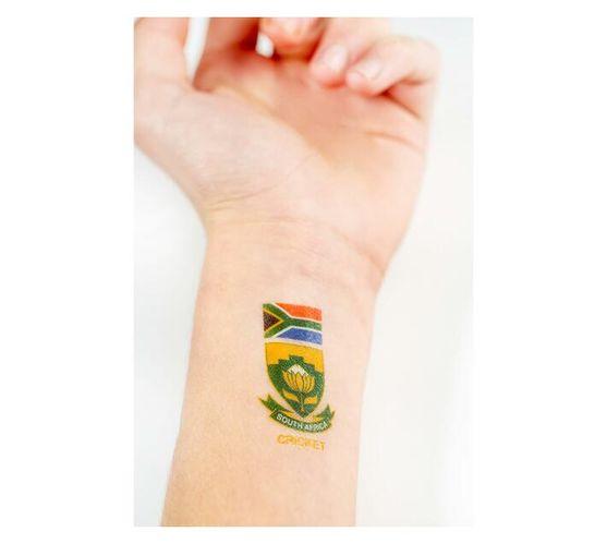 SA Cricket Emblem Temporary Tattoos (Pack of 24)