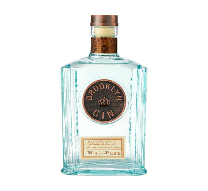 Brooklyn Handcrafted Small Batch Gin (1 x 750ml)