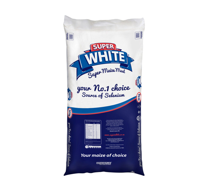 BATHO BOTLHE White Super Maize Meal White (1 x 50kg)