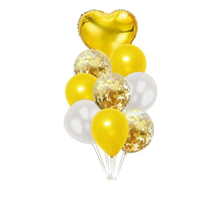 BubbleBean - Yellow Bunched Balloon 9pc