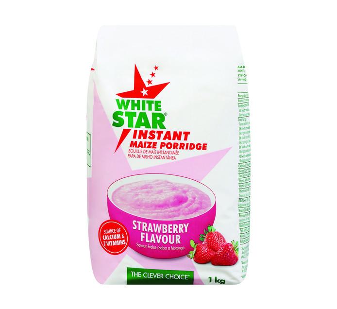 WHITE STAR Instant Maize Strawberry (1 x 1kg)