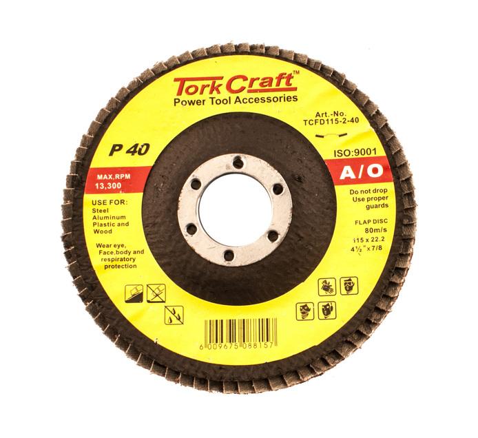 Tork Craft 40 Grit Flap Disc