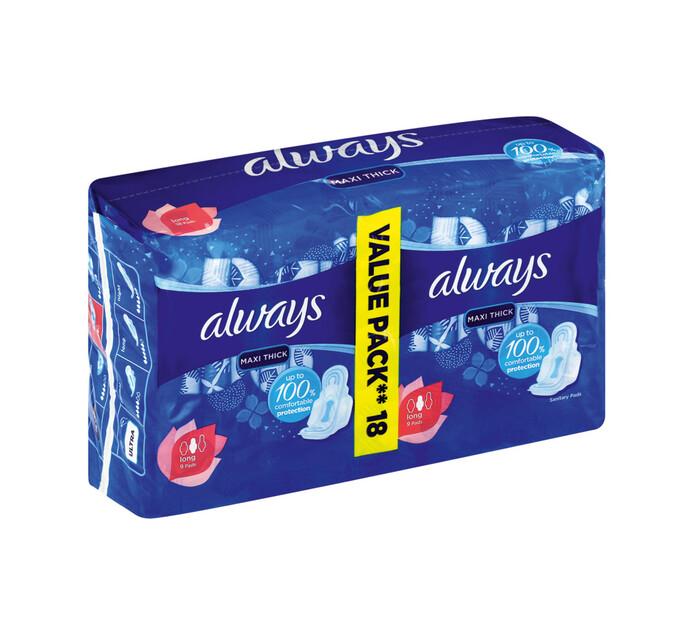 Always Maxi Duo Sanitary Pads Super Plus (1 x 18's)