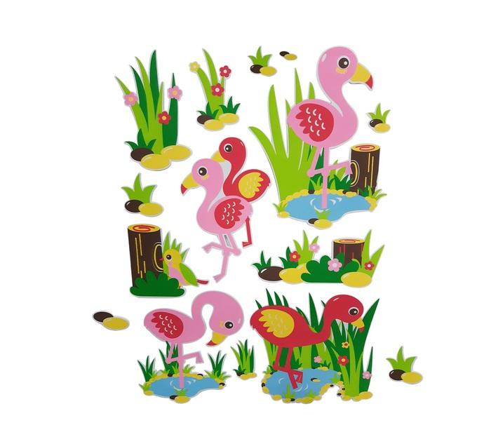 Flamingo 3D Foam Stickers