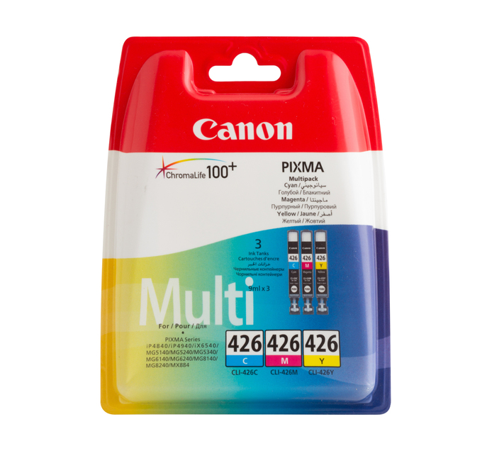 CANON CLI-426 Tri-Colour Multipack Ink Cartridges