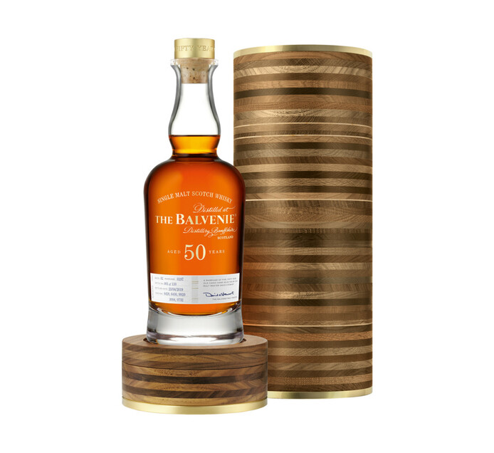 Balvenie 50 YO Speyside Single Malt Whisky In Special Collectors Tube (1 x 750 ml)