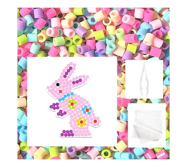 JKA - Iron On Bead Craft Toy - Double Combo Kit - Heart & Bunny