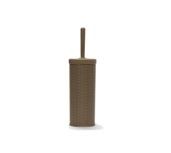Toilet Brush Rattan Square Plastic Brown