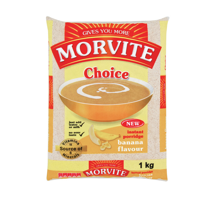 MORVITE Choice Instant Porridge Banana (10 x 1kg)