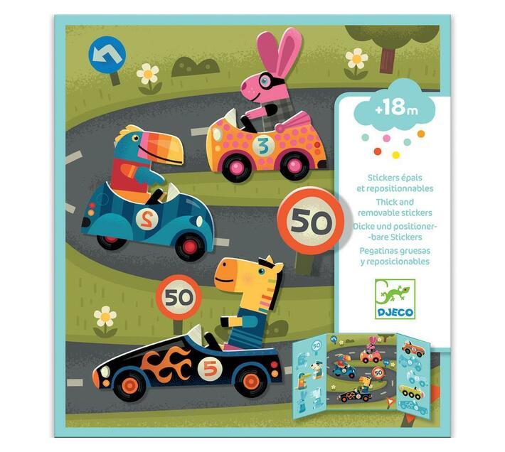 Djeco Stickers to Create- Cars