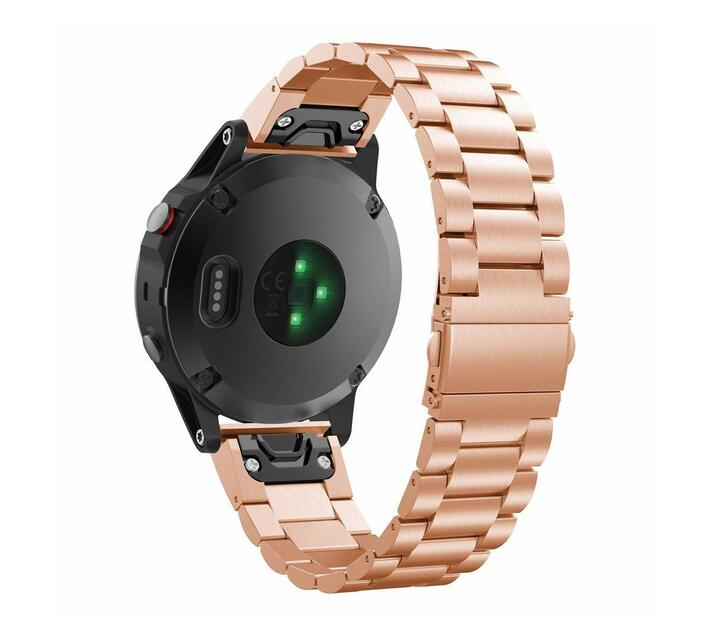 Stainless Steel Link Band for Samsung Gear Fit2 Pro/ Fit2 - Rose Gold