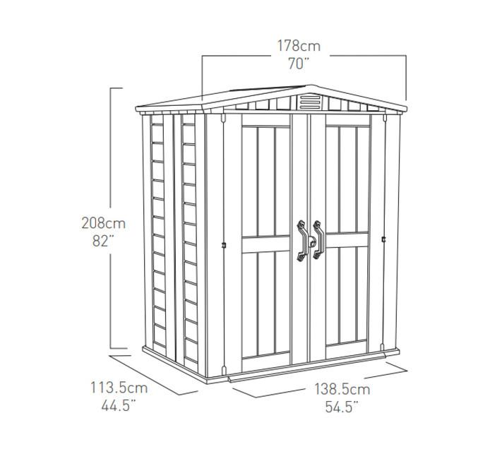 Keter 1.78 x 1.13 m Factor Garden Shed