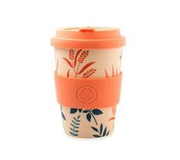 Bamboo Cup 400ml Flowers