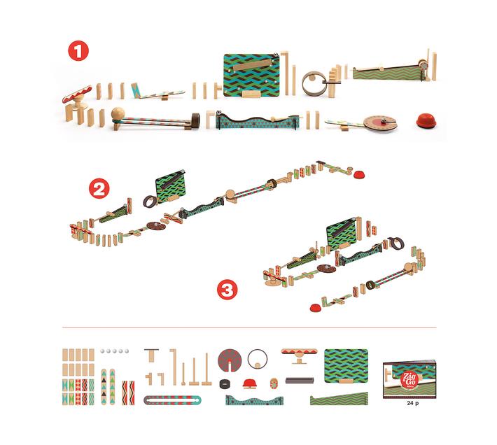 Djeco Construction Set- Zig & Go 48 pcs