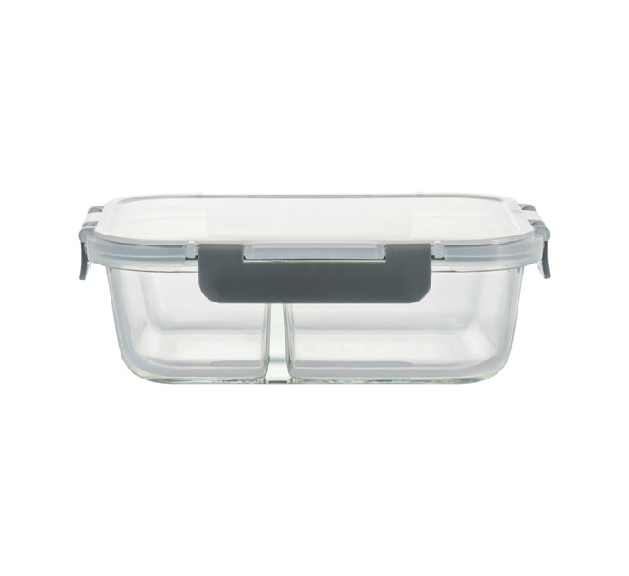 Consol 1.36 l Madrid 2-Division Storage Container with Clip-On Lid