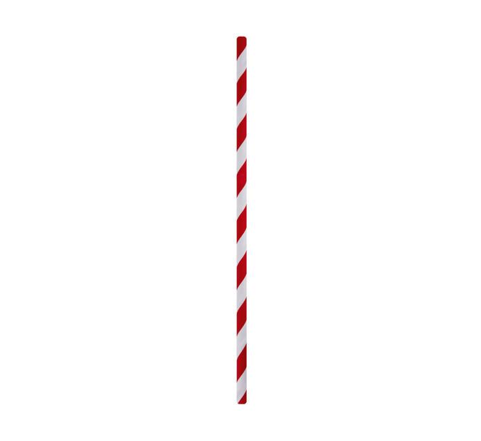 M Brand Paper Straws Striped 6mm Cherry (1 x 50's)