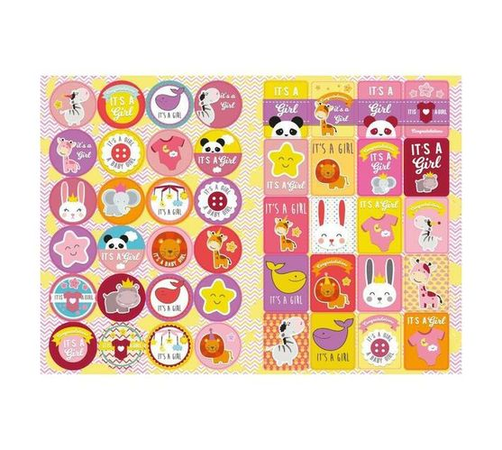 Redfern Self-Adhesive It's A Girl Stickers (A5)
