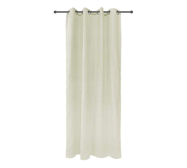 easyhome Suede Solid Eyelet Curtain Beige 140 x 250cm
