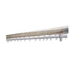 Decor Depot 40 mm Contemp Clip on Wood with Double Track Silver 2.0 m