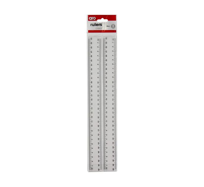 ARO Plastic Ruler Clear