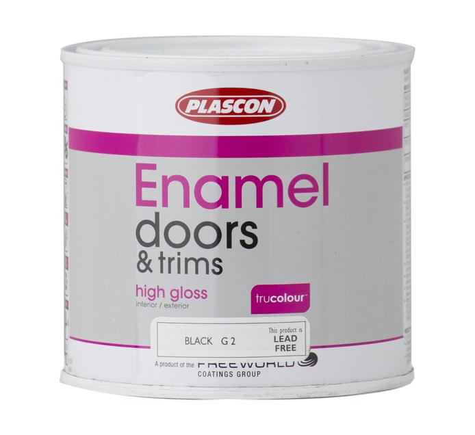 Plascon 500ML Enamel Paint Black