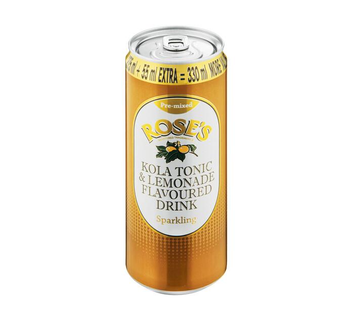 ROSES SPARKLING CANS 330ML,KOLA TONIC
