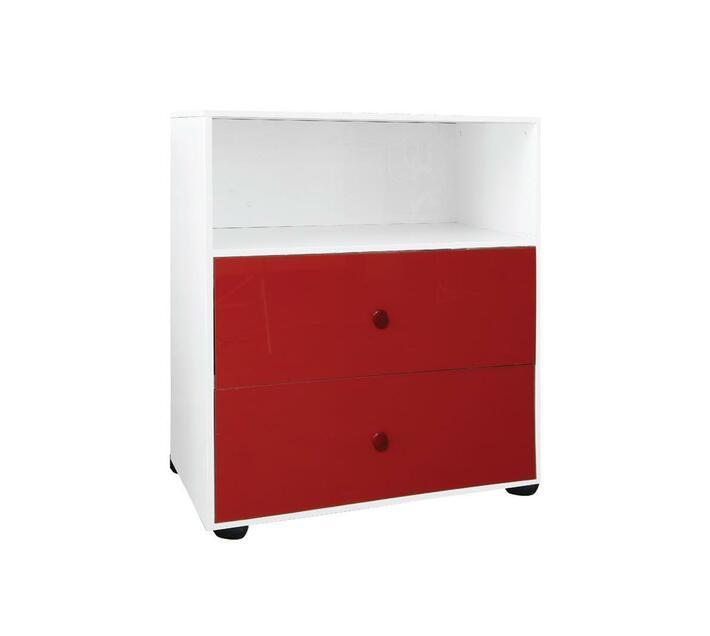 Compactum 2 Drawer Open Shelf Storage UV Red