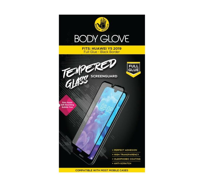 Body Glove Huawei Y5 2019 Full Glue Tempered Glass Black