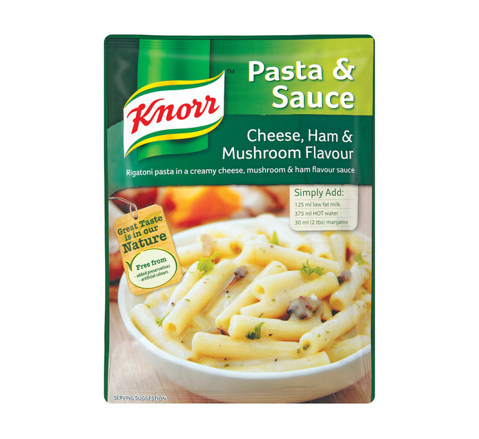 Knorr Pasta & Sauce Cheese, Ham and Mushroom (1 x 115g)