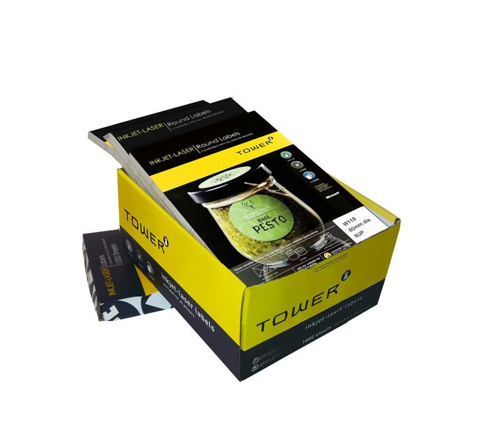 A4 Inkjet - Lasee Labels - W118 - 80mm Diameter - 6UP - 1000 Sheets
