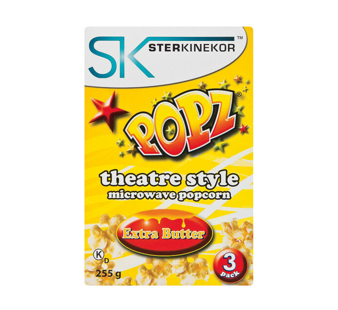 Ster Kinekor Microwave Popcorn Extra Butter (3 x 85g)
