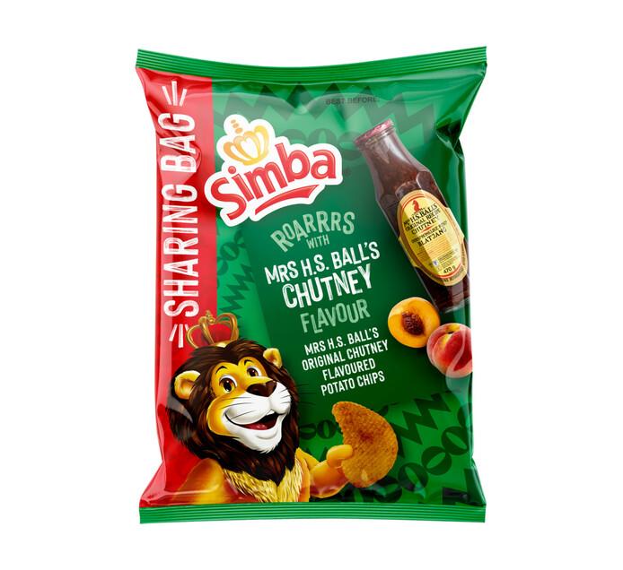 Simba Potato Chips Mrs Balls Chutney (12 x 220g)