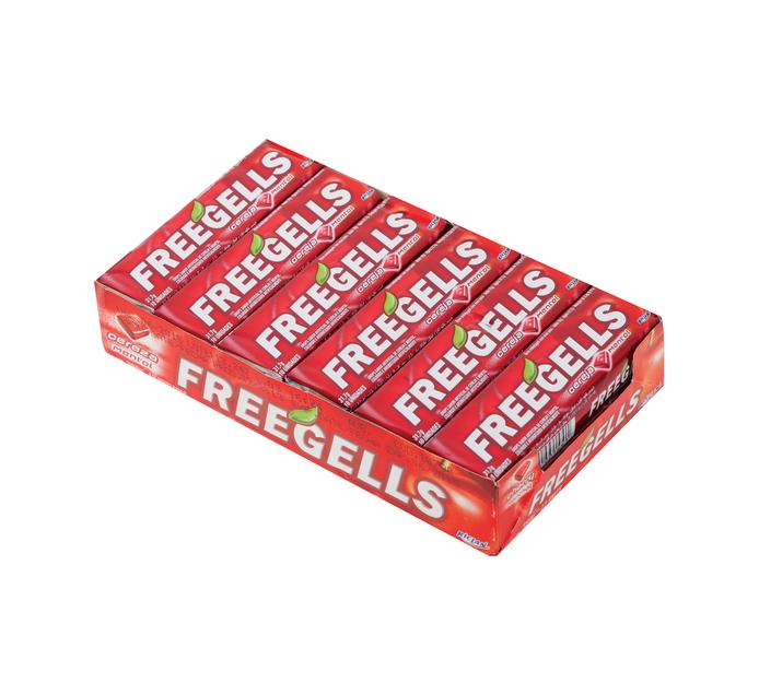 FREEGELLS Lozenges Rolls Cherry Menthol (1 x 12's)