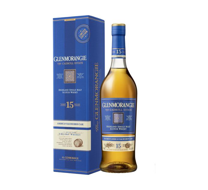 Glenmorangie The Cadboll Estate 15 YO Single Malt Scotch Whisky (6 x 750 ml)
