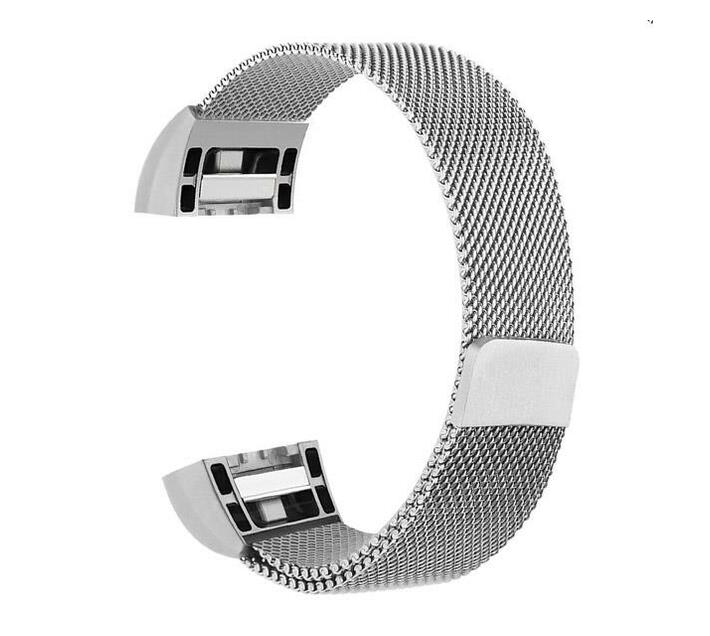 Zonabel Fitbit Charge 2 Milanese Strap - Silver (Large)