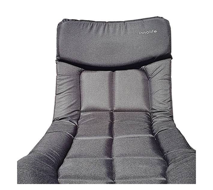 Camping Bed Comfort Padded - Adjustable Backrest & Leg Height