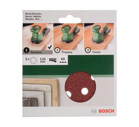 BOSCH 125MM x 60 Grit 60 Grit Sanding Sheet