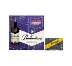 Ballantines Scotch Whisky With Soda Water And Mystery Prize (4 x 750ml)