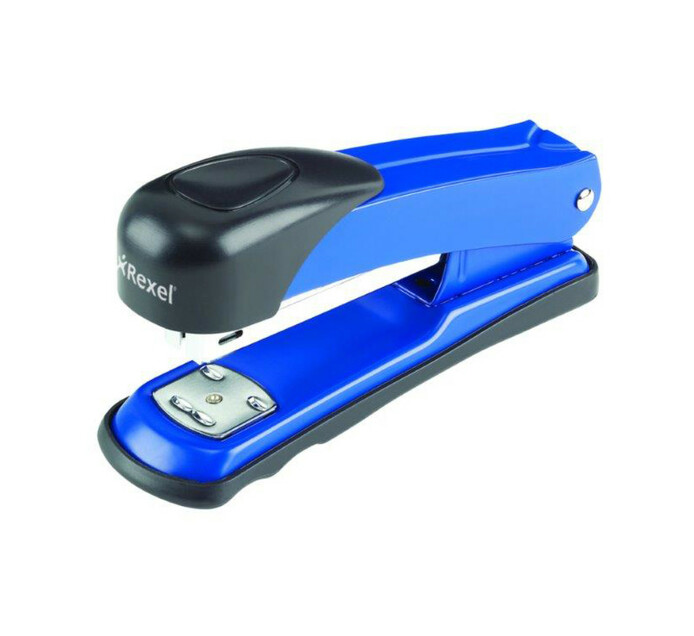 Rexel X15 Half Strip Metal Stapler Blue Blue