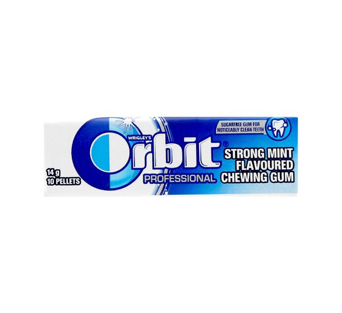 ORBIT S/F GUM PELLET PK 10P, STRONG MINT