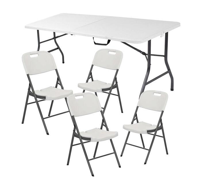 Pleasing Karters Folding Table Plus 4 Chairs Uwap Interior Chair Design Uwaporg