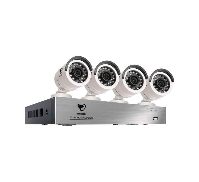 Patrol 8-Channel 4-Camera 1080P DVR Kit