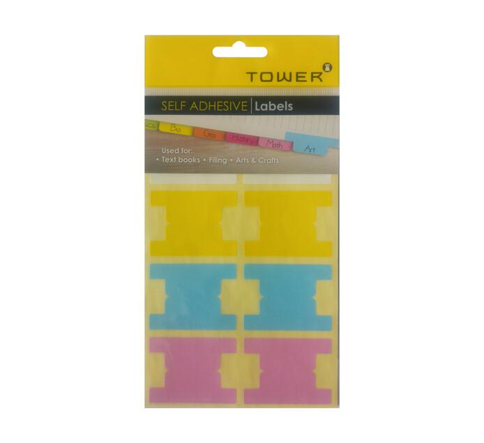 Tower Self Adhesive Tabs Pastel 3 Pack