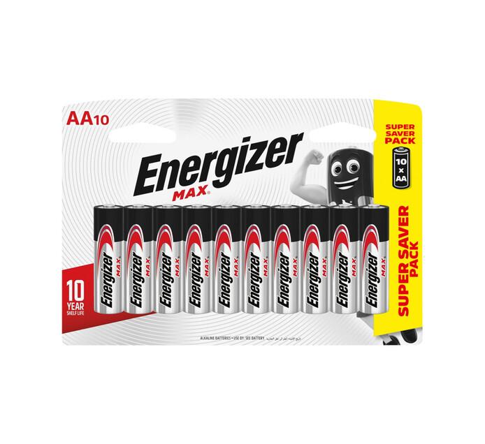 Energizer Max AA Alkaline Batteries 10-Pack