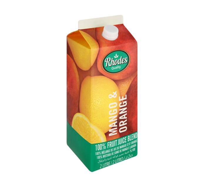 Rhodes 100% Fruit Juice Blend Mango & Orange (6 x 2l)