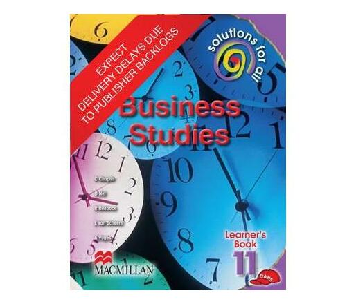 Solutions for all business studies: Gr 11: Learner's book