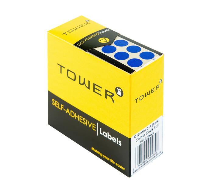 Tower C19 Colour Code Labels Blue Dot Each