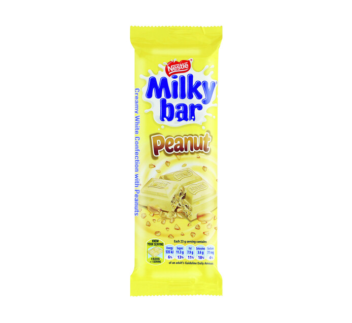 Nestle Chocolate Slabs Milky Bar Peanut (1 x 80g)