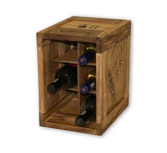 River Woods Baby 6 Bottle Wooden Wine Crate