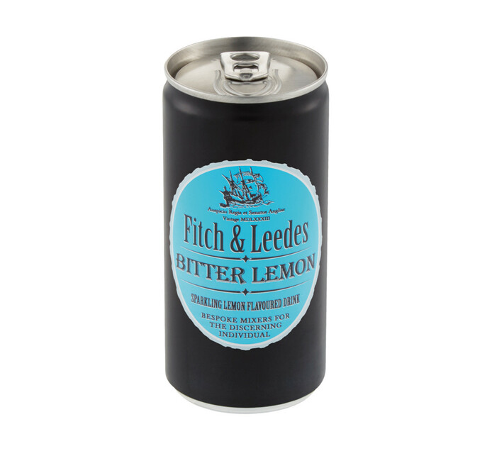 Fitch & Leedes Bitter Lemon Can (24 x 200ml)